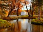 Church in autumn park