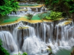 Lovely Tropical Water Cascades