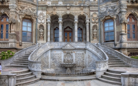 Beautiful Palace - hdr - architecture, palaces, stairs, steps
