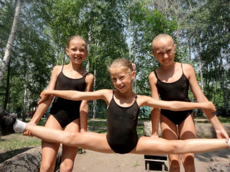 Little Gymnasts - cute, gymnasts, young, people, preteen, girls, little girls, gymnastics