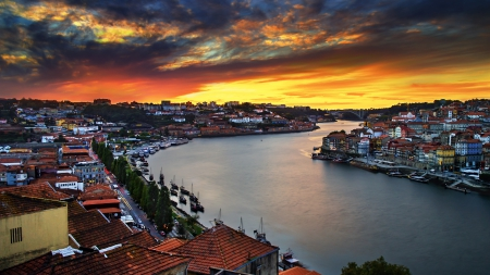 Enchanting Oporto, Portugal - architecture, oceans, oporto, sunsets, cityscapes, portugal