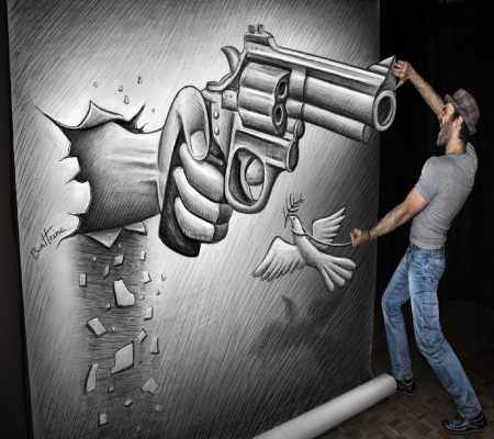Gun man - 3D and CG & Abstract Background Wallpapers on