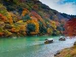 Autumn River near Osaka, Japan