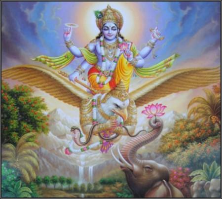 Vishnu - hindu, god, lord, hinduism, india, vishnu, supreme, guarada