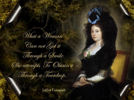 Woman's Smile and Teardrop - Women Posters, Love, Joffre, Woman, Frangieh, Women Quotes