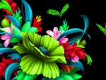 Floral Butterflies Bright