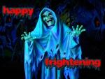happy frightening