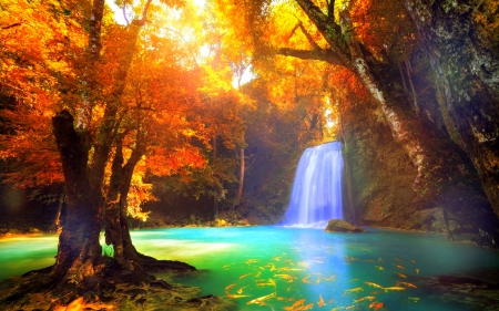 Cool Waterfall Waterfalls Nature Background Wallpapers On Desktop Nexus Image 1872218