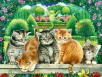 Topiary Cats F
