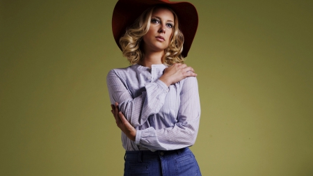 gemma bissex - look, cowgirl, girl, beauty, hat