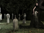 Woman in the Graveyard