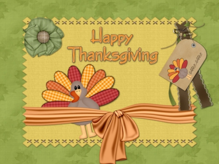 Thanksgiving - Fall, tag, safety pin, ribbon, bow, ribbons, Happy Thanksgiving, pin, turkeys, button, leaves, Thanksgiving, turkey, flower, Autumn