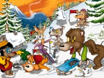 Animals ski