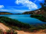 Beautiful Blue Lake and Sky