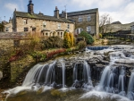 Waterfall in Hawes, England