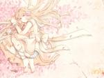 Lying on Sakura petals