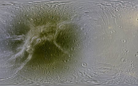 The Map of Dione - fun, cool, moon, planet, space