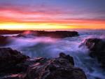 Amazing Sea under the Sunset