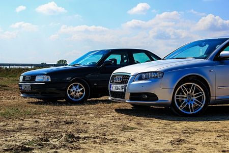 Audi 80 Sport Edition and Audi A4 S-line - s-line, 80, sport edition, audi, a4