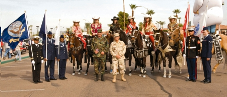 Cowgirls Luv Veterans - westerns, holidays, hats, respect, freedom, America, fun, Veterans Day, soldiers, honor, horses, flags, cowgirls