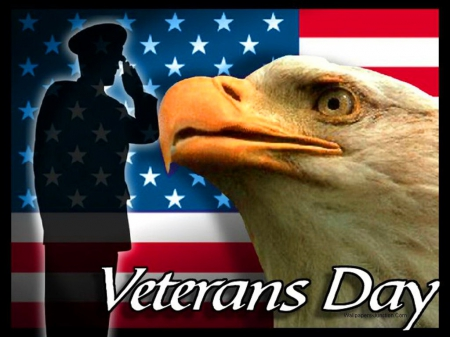 Veterans Day - soldier, eagle, America, honor, flag