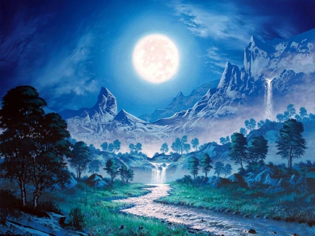 ★harmony In Full Moon★ Winter Amp Nature Background