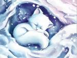 White Fox in Snow