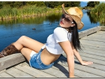 Cowgirl On The Dock