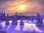 Winter Sunset in Dreams