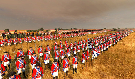 British Redcoats - total war, british, england, the patriot, army, american revolution, redcoats, muskets, empire total war
