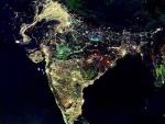 India at night from nasa