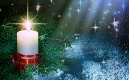 Christmas Candle Other Nature Background Wallpapers On