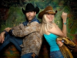 Cowboy Keith Burns & Cowgirl Michelle Poe