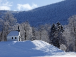 Church in the Mountains in Winter