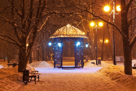 Winter city park at night winter nature background wallpapers on desktop nexus image 1880761 - Snow night city wallpaper ...