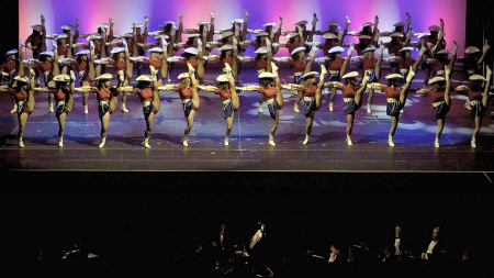 Chorus Line Cowgirls - hats, band, style, boots, girls, females, dancers, cowgirls, fun, women, western