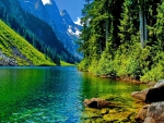 Beautiful View of Lake and Mountains