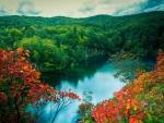 Lake in the Autumn Mountains