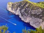 Boat on Blue Sea