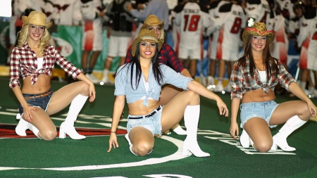 When Cowgirls Smile - hats, style, boots, girls, models, dancers, cowgirls, fun, women, western, female