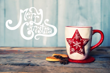 Merry Christmas ♥ - holidays, lovely, christmas, beautiful, cookies, photography, merry christmas, coffee, cup, star