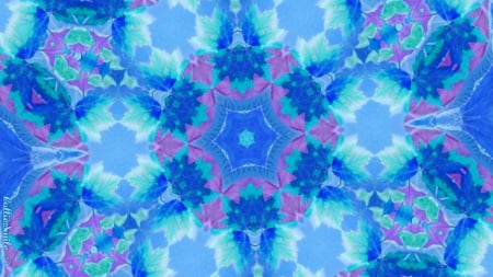 From Fall Leaf(s) to Winter Flake - seasons, turquoise, leaves, aqua, co1d, blue, inverted, design, co11age, leaf, kaleidoscope, kaleidoscopes too1, snowflake, purple, aquamarine, snowflakes, violet, white