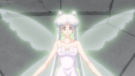 Serenity - pretty, glow, queen serenity, beautiful, adorable, magic, wing, sweet, magical girl, nice, i, twin tail, anime, sailor moon, anime girl, beauyt, long hair, sailormoon, fairy, female, wings, lovely, twintail, glowing, twintails, twin tails, cute, kawaii, girl, serenity, silver hair