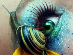 Snail and Eye Make Up