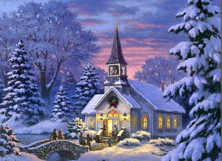 ˜�country Church★ Winter Amp Nature Background Wallpapers