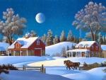 winter holiday at the farm