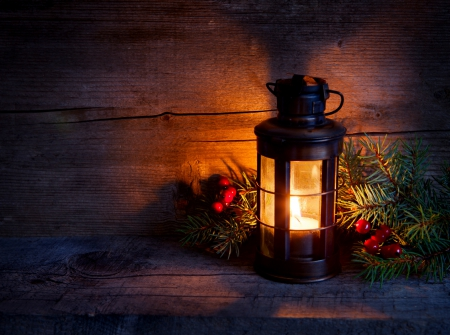 Christmas Glow ♥ - candle, holidays, glow, lovely, lantern, christmas, beautiful, photography, light, wood