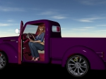 Cowgirl In Her Truck
