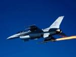 F-16 Falcon firing a Missile