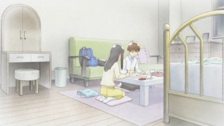 Homework - pretty, house, guy, home, book, bedroom, beautiful, bed, sweet, nice, anime, beauty, anime girl, chair, long hair, black hair, study, table, female, male, lovely, homework, living room, brown hair, short hair, boy, girl, wandering son
